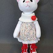 Мягкие игрушки ручной работы. Ярмарка Мастеров - ручная работа Кошка текстильная. Handmade.