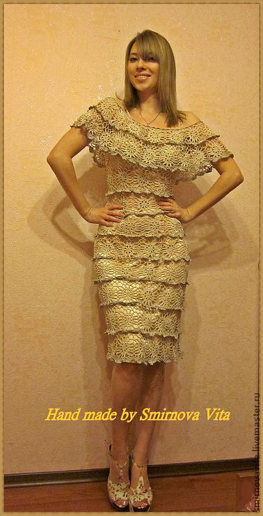 """Платья ручной работы. Ярмарка Мастеров - ручная работа. Купить Платье """"Сливочный крем"""". Handmade. Платье, микрофибра"""