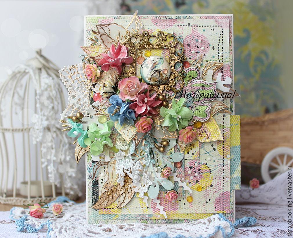 Заставки, скрап в ручных открытках