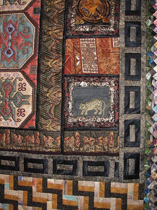 Текстиль, ковры ручной работы. Ярмарка Мастеров - ручная работа. Купить Покрывало  Сокровища инков. Handmade. Инки, сатин