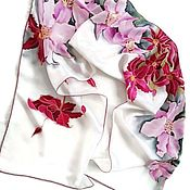 Аксессуары handmade. Livemaster - original item Batik Scarf Clematis. Handmade.