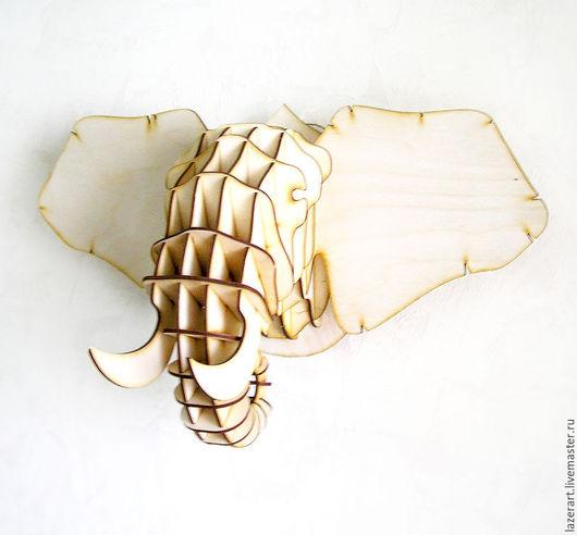 Статуэтки ручной работы. Ярмарка Мастеров - ручная работа. Купить Голова СЛОНА. Handmade. Бежевый, для дома и интерьера, слон