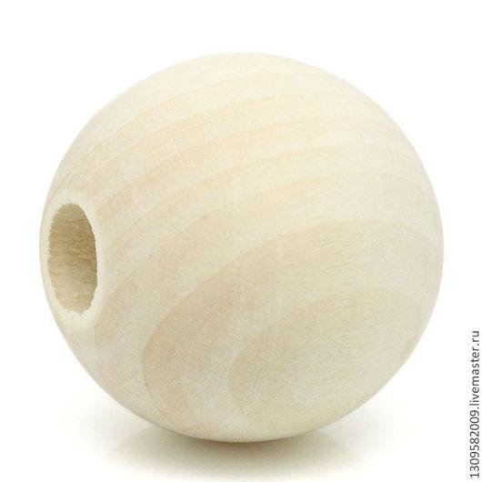 Для украшений ручной работы. Ярмарка Мастеров - ручная работа. Купить Бусины деревянные 2 см.. Handmade. Деревянные бусины
