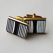 Винтаж handmade. Livemaster - original item Cufflinks black and silver:. Handmade.