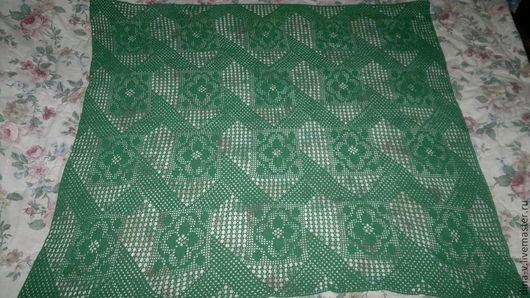 Текстиль, ковры ручной работы. Ярмарка Мастеров - ручная работа. Купить Скатерть зеленая. Handmade. Зеленый, Вязание крючком, уют