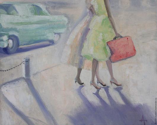 """Символизм ручной работы. Ярмарка Мастеров - ручная работа. Купить """"Оттепель"""". Handmade. Комбинированный, красный чемоданчик, солнце, воздушность"""