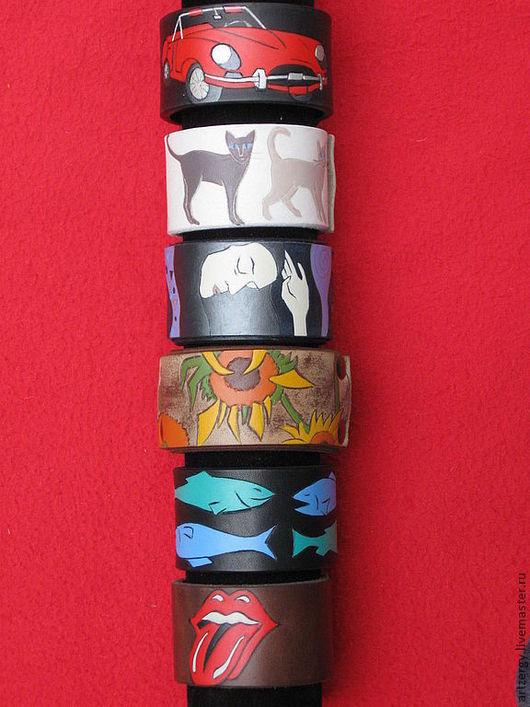Браслеты ручной работы. Ярмарка Мастеров - ручная работа. Купить 6 кожаных браслетов. Handmade. Браслет, подарок на день рождения