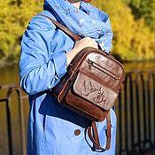 Сумки и аксессуары handmade. Livemaster - original item Backpacks: Brown Leather Backpack for Women Tracy Mod. R29p-622. Handmade.