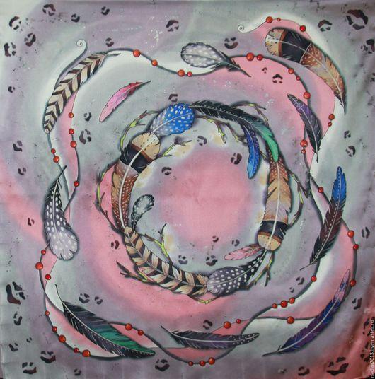 ПЛАТОК - Авторский батик будет прекрасным подарком для любой женщины. Обратите внимание на шелковые платки из атласа. Шелк очень нежный, с интенсивным блеском