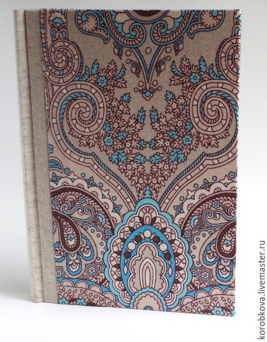 """Блокноты ручной работы. Ярмарка Мастеров - ручная работа. Купить Блокнот ручной работы """"Индийские огурцы"""". Handmade. Голубой, бумага"""