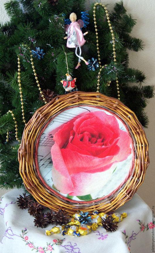 """Кухня ручной работы. Ярмарка Мастеров - ручная работа. Купить Музыкальный поднос """"Роза"""". Handmade. Комбинированный, музыканту, подарок"""