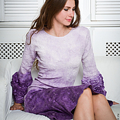 Одежда handmade. Livemaster - original item Felted dress with long sleeves