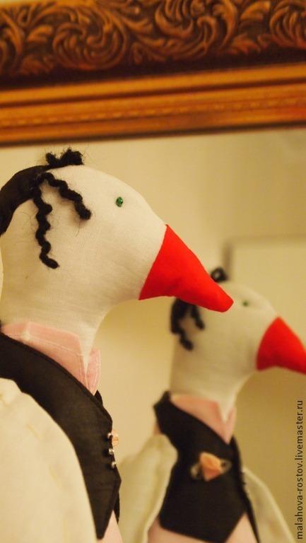 Ароматизированные куклы ручной работы. Ярмарка Мастеров - ручная работа. Купить Интерьерная игрушка ароматический гусь - Изя. Handmade. саше
