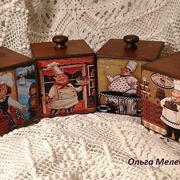 Для дома и интерьера ручной работы. Ярмарка Мастеров - ручная работа Короба для специй , соли, лаврушки.... Handmade.