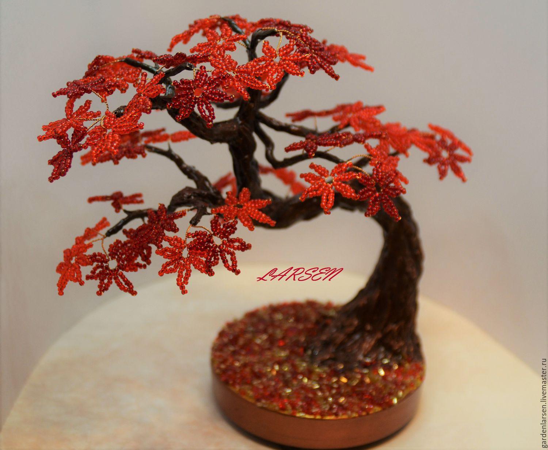 Маленькие деревья из бисера мастер класс с пошаговым фото