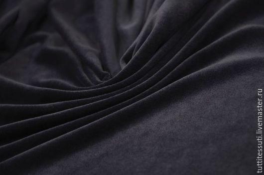 Шитье ручной работы. Ярмарка Мастеров - ручная работа. Купить Велюр 03-300-0049. Handmade. Тёмно-синий