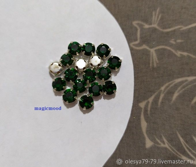 10pcs Rhinestones in DAC Emerald ss20 4,6-4,8 mm Czech crab, Rhinestones, Chelyabinsk,  Фото №1