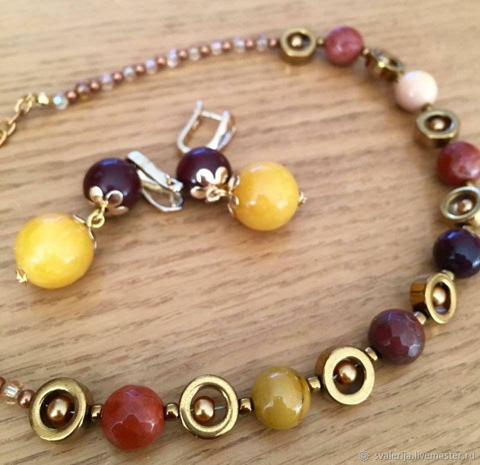 A set of Jasper - mookaite 'Rainbow mood», Jewelry Sets, Riga,  Фото №1