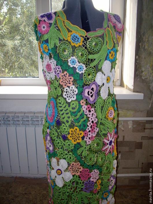 """Платья ручной работы. Ярмарка Мастеров - ручная работа. Купить Платье """" Букет"""". Handmade. Платье летнее, вязание на заказ"""