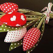 Куклы и игрушки ручной работы. Ярмарка Мастеров - ручная работа весенние тюльпанчики тильда. Handmade.
