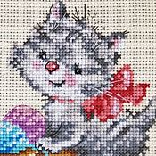 Картины и панно handmade. Livemaster - original item Masha embroidered picture-needlewoman. Handmade.