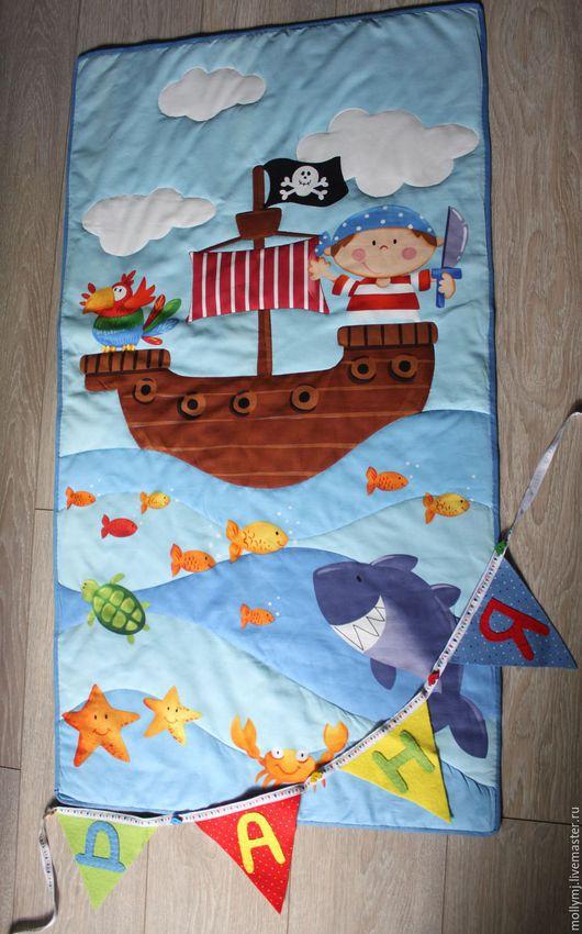 Пледы и одеяла ручной работы. Ярмарка Мастеров - ручная работа. Купить Детские одеялки в кроватку и подушки. Handmade. Разноцветный, одеялко