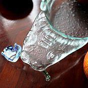 """Посуда ручной работы. Ярмарка Мастеров - ручная работа Фьюзинг. Салатник """"Ящер"""". Handmade."""