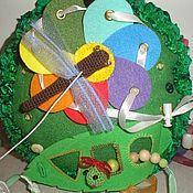Мягкие игрушки ручной работы. Ярмарка Мастеров - ручная работа Развивающая игрушка полянка пальчиковый тренажёр. Handmade.