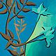 Картины цветов ручной работы. Ярмарка Мастеров - ручная работа. Купить Бирюзовый цветок,графика 34х50 см. Handmade. Цветок
