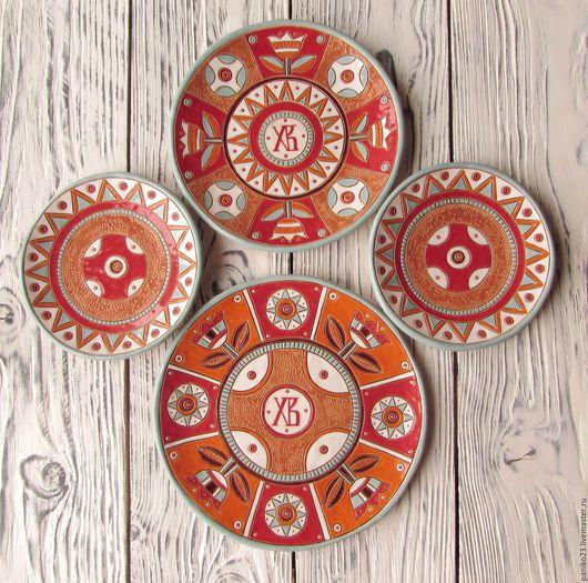 """Тарелки ручной работы. Ярмарка Мастеров - ручная работа. Купить Набор керамических тарелок""""Пасхальный"""". Handmade. Комбинированный, пасхальный сувенир"""