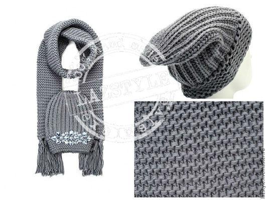 """Комплекты аксессуаров ручной работы. Ярмарка Мастеров - ручная работа. Купить Комплект шапка+шарф из серии """"Crystal"""" C-4. Handmade."""