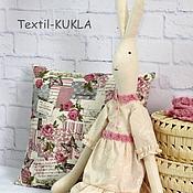 Куклы и игрушки ручной работы. Ярмарка Мастеров - ручная работа Зайка в стиле прованс(80см) - текстильная игрушка. Handmade.