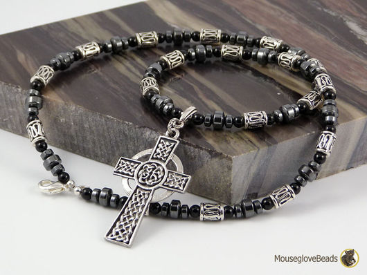 Бусы №52. Celtic cross.