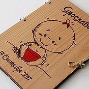 Папки ручной работы. Ярмарка Мастеров - ручная работа Деревянная папка для свидетельства о рождении. Handmade.