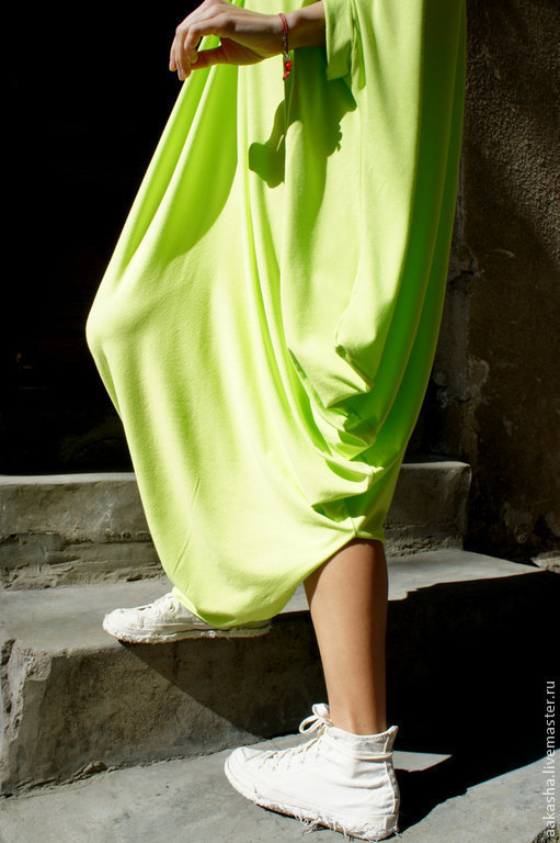 летнее платье неоновое платье легкое платье