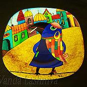 """Посуда ручной работы. Ярмарка Мастеров - ручная работа Авторская декоративная тарелка""""Синяя ворона"""". Handmade."""