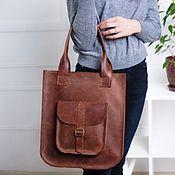 Сумки и аксессуары handmade. Livemaster - original item Women`s brown leather bag SORA. Handmade.