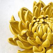 Для дома и интерьера handmade. Livemaster - original item Decorative ceramic chrysanthemum. Handmade.