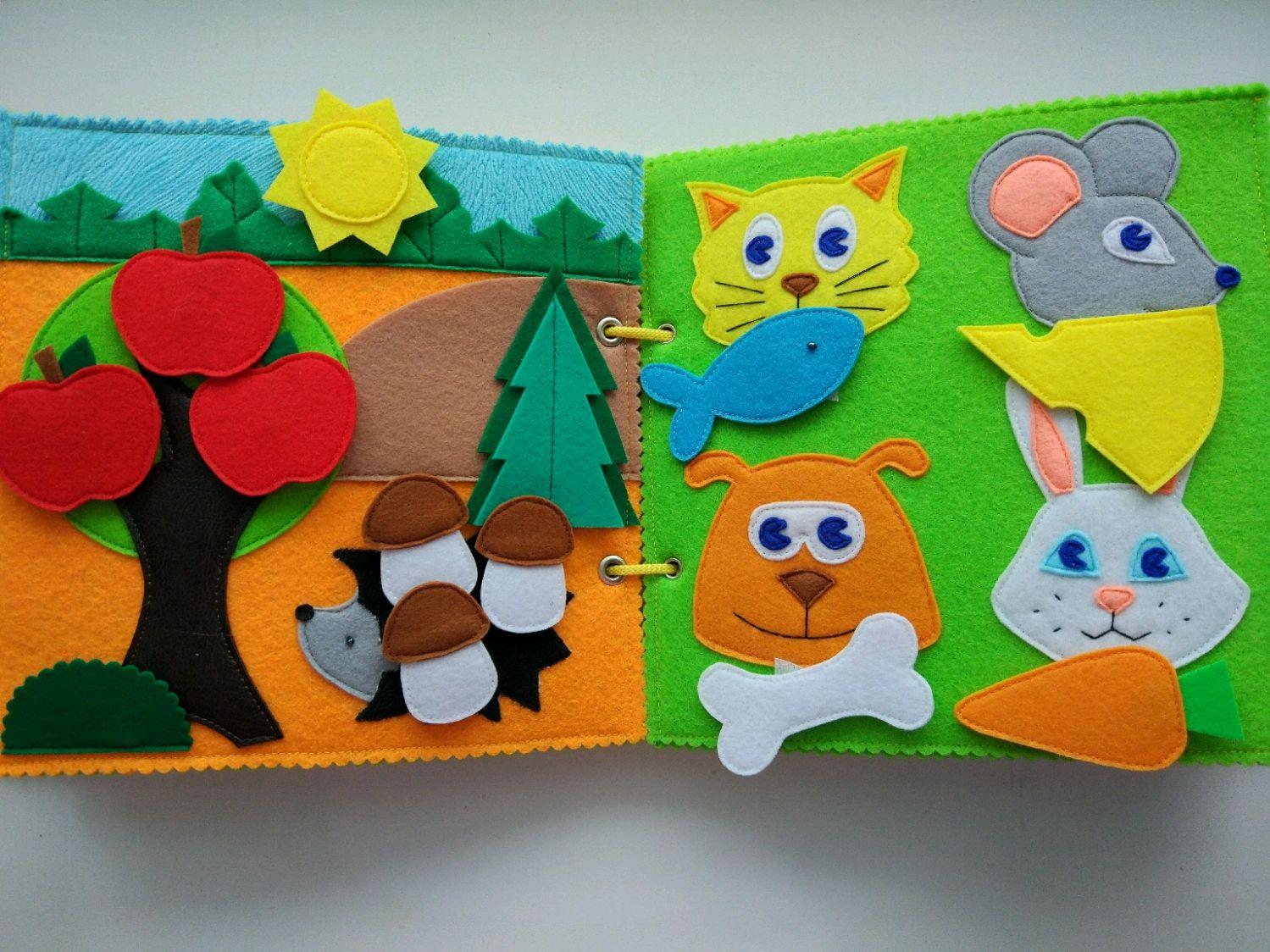 Детские книжки из фетра своими руками фото 63