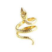 Украшения handmade. Livemaster - original item Gold snake ring, snake ring, snake ring. Handmade.