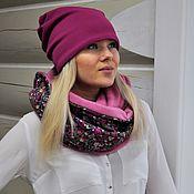 Аксессуары handmade. Livemaster - original item Kit knit in fleece - fuchsia. Handmade.
