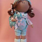 Куклы и игрушки ручной работы. Ярмарка Мастеров - ручная работа Интерьерная текстильная кукла большеножка Анютка. Handmade.