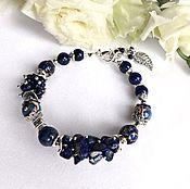 Украшения handmade. Livemaster - original item Bracelet genuine lapis lazuli, sodalite and Jasper