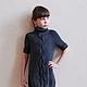 Одежда для девочек, ручной работы. Платье вязаное детское Герда. Студия трикотажа ~Urban Kids~. Интернет-магазин Ярмарка Мастеров.