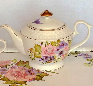 """Сервиз шебби-шик с росписью  двойной мазок """"Очарование"""", Tea & Coffee Sets, ,  Фото №1"""