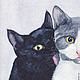 Кошки. Это любовь?! акварель,  Светлана Маркина, LechuzaS