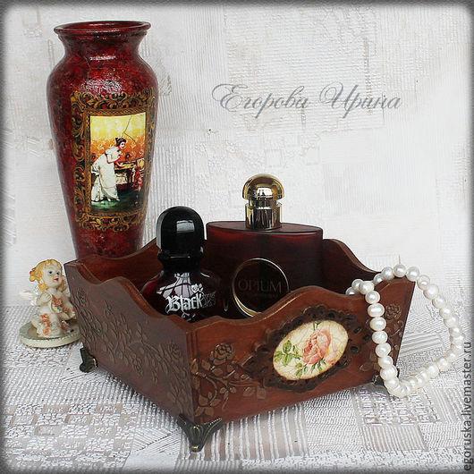 """Корзины, коробы ручной работы. Ярмарка Мастеров - ручная работа. Купить Короб подставка для парфюма,косметики,бижутерии """"Пробуждение"""". Handmade."""
