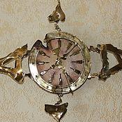Для дома и интерьера ручной работы. Ярмарка Мастеров - ручная работа часы настенные ВЕТЕР ПЕРЕМЕН. Handmade.