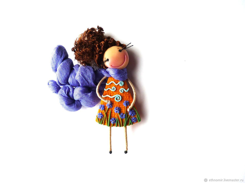 brooch girl, 'Vasilisa', Brooches, Irbit,  Фото №1