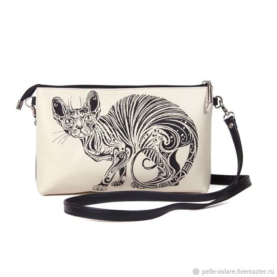 Clutch 'the Canadian Sphinx' embroidery, Clutches, St. Petersburg,  Фото №1